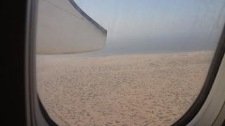 Vista de Berbera do aviao saindo de Berbera