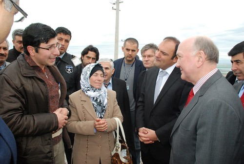 British Ambassador in Turkey visits Syrian refugee camp.