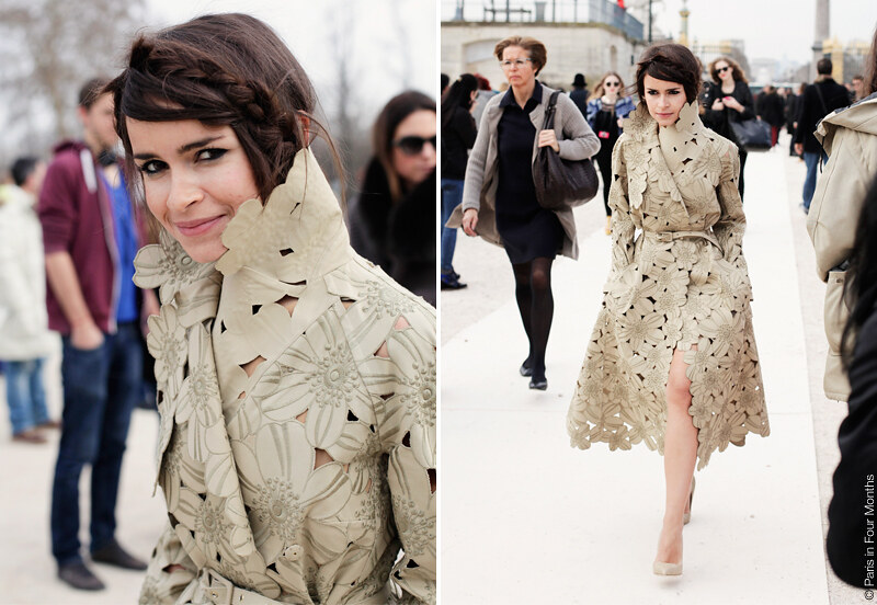 Miroslava Duma at Fashion Week in Paris FW13