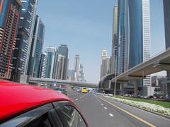 Taxi ride through Dubai