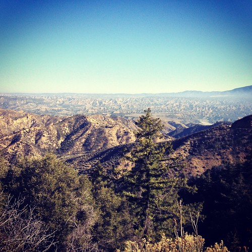 Looking out over Los Padres