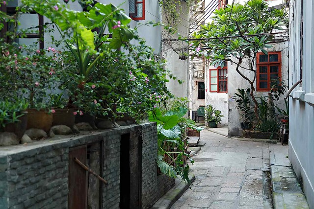 Side street in Old Guangzhou, China.