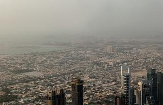 Quartiers résidentiels et port de Dubaï