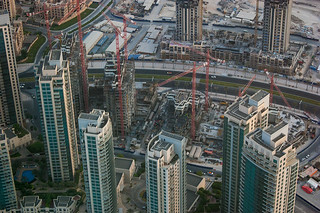 Quartier de Burj Residence en construction