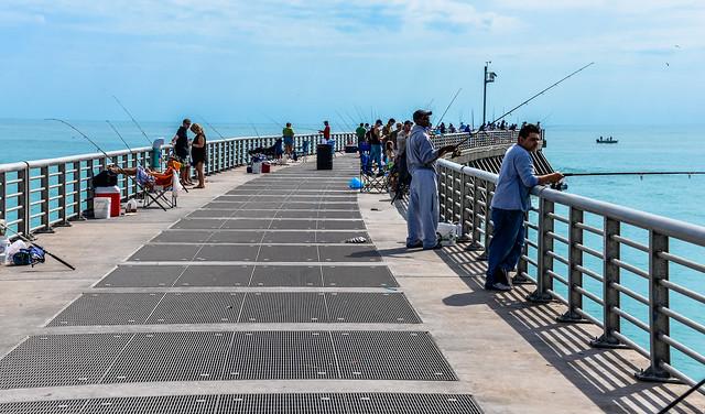 Fishing pier over the atlantic ocean at sebastian inlet st for Vero beach fishing report