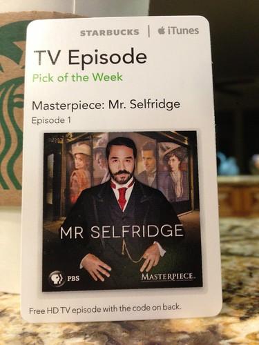 Starbucks iTunes Pick of the Week - 3/26/2013 - Masterpiece: Mr Selfridge - Episode 1