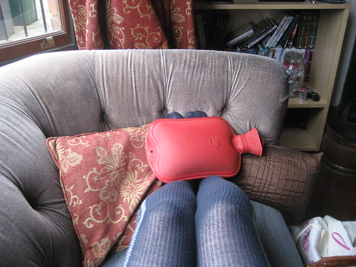 Thermal tights and a hot water bottle