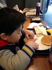 スタバで朝御飯、おかあさんもいつしょ 2013/3/27