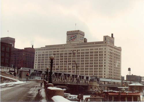 The Chicago & NorthWestern Railroad headquarters building.  Chicago Illinois.  January 1984. by Eddie from Chicago