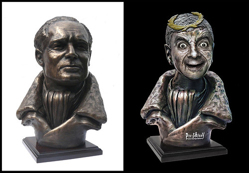 Bean Statue Before After
