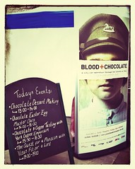 Blood + Chocolate sign