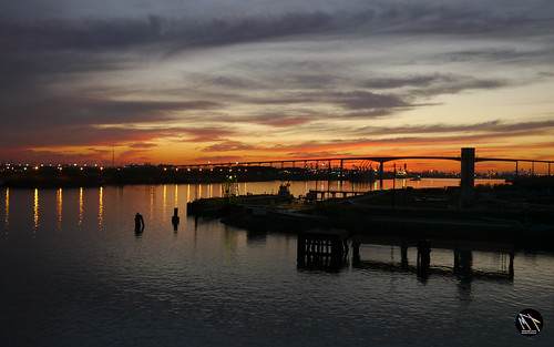 bridge sunset usa river houston