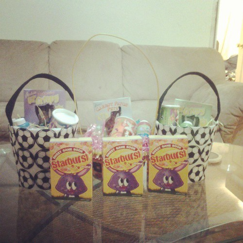 Lots of thanks to my sweet sister for getting my kids their Easter baskets and filling this year. I wasn't able to get them myself. by elaine.pepsicola81