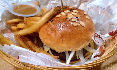 Mystery Burger - Garlic (RM18.90 double)