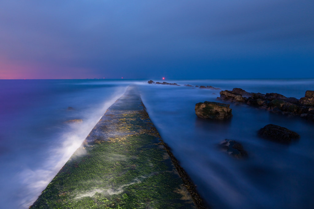 Walking On Water (Peverill Point Long Exposure), Swanage
