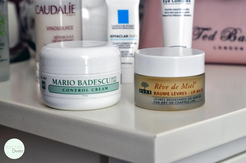 current face skin care routine lip balm eczema mario badescu control cream reve de miel rottenotter rotten otter blog