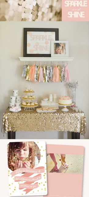 Sparkle-Shine-themed-birthday-party-via-Karas-Party-Ideas-KarasPartyIdeas.com-sparkle-shine-birthday-party-theme-girl-idea-cake-ideas-anthropologie
