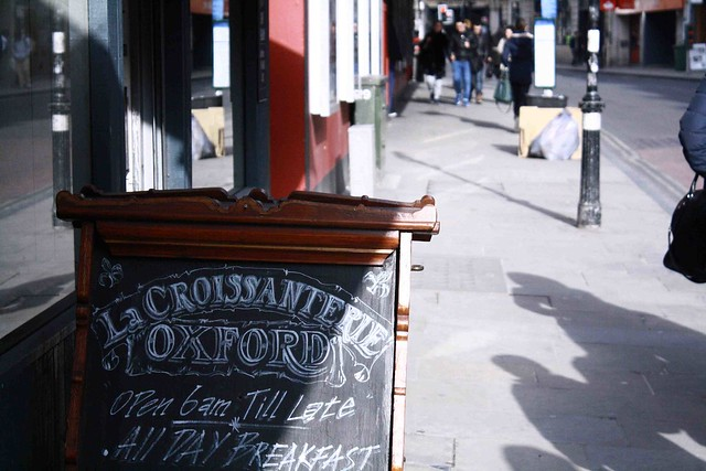 la croissanterie oxford chalk board