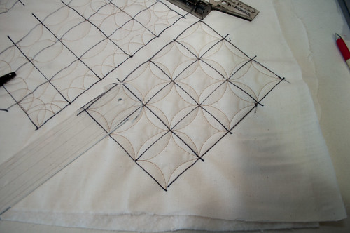 Second practice of the pumpkin seed quilting.