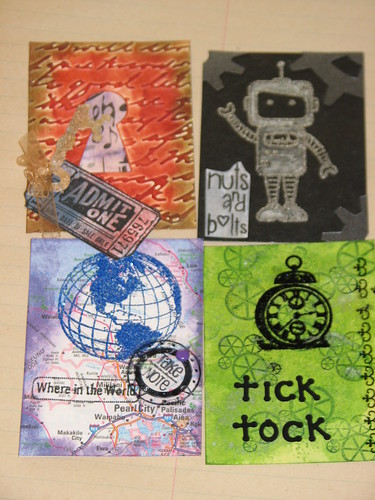 Ink Stains March Charm n ATC Swap 027