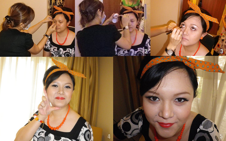 retro dnd company dinner make up and hairstyle by make up artist 1