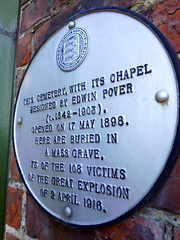 Photo of Edwin Pover white plaque