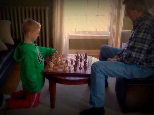 An intense chess match