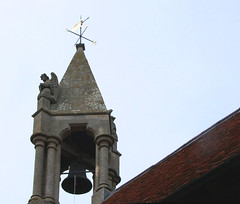 bell turret with angel
