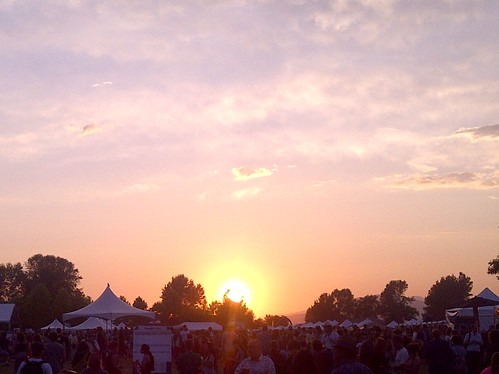 Sunset at the Vancouver Folk Music Festival