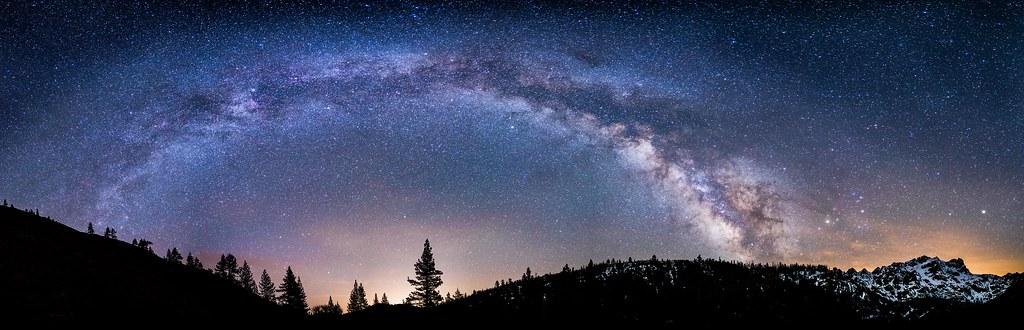 Milky Way Panorama - Rising over Lower Sardine Lake