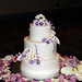 calla lily & haydrangea wedding cake