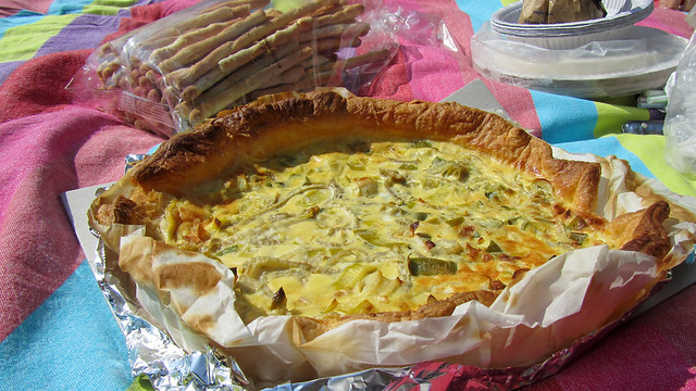 Leek and fennel tart