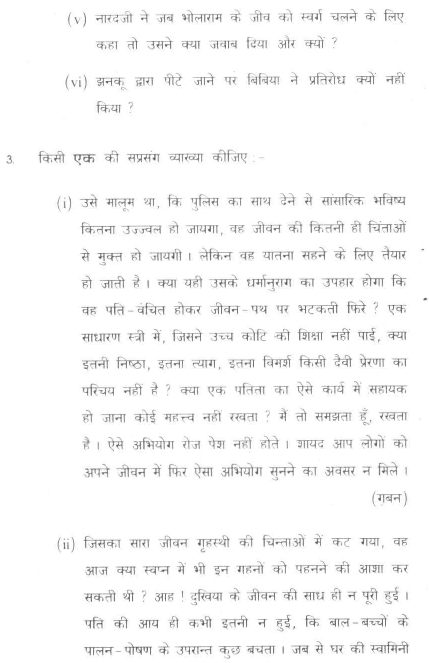 DU SOL B.A. Programme Question Paper -  Hindi Discipline -  PaperVII