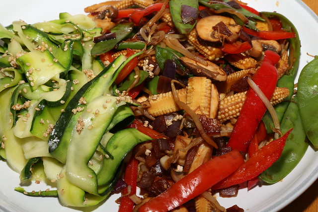 Stir Fry with Courgette Ribbons