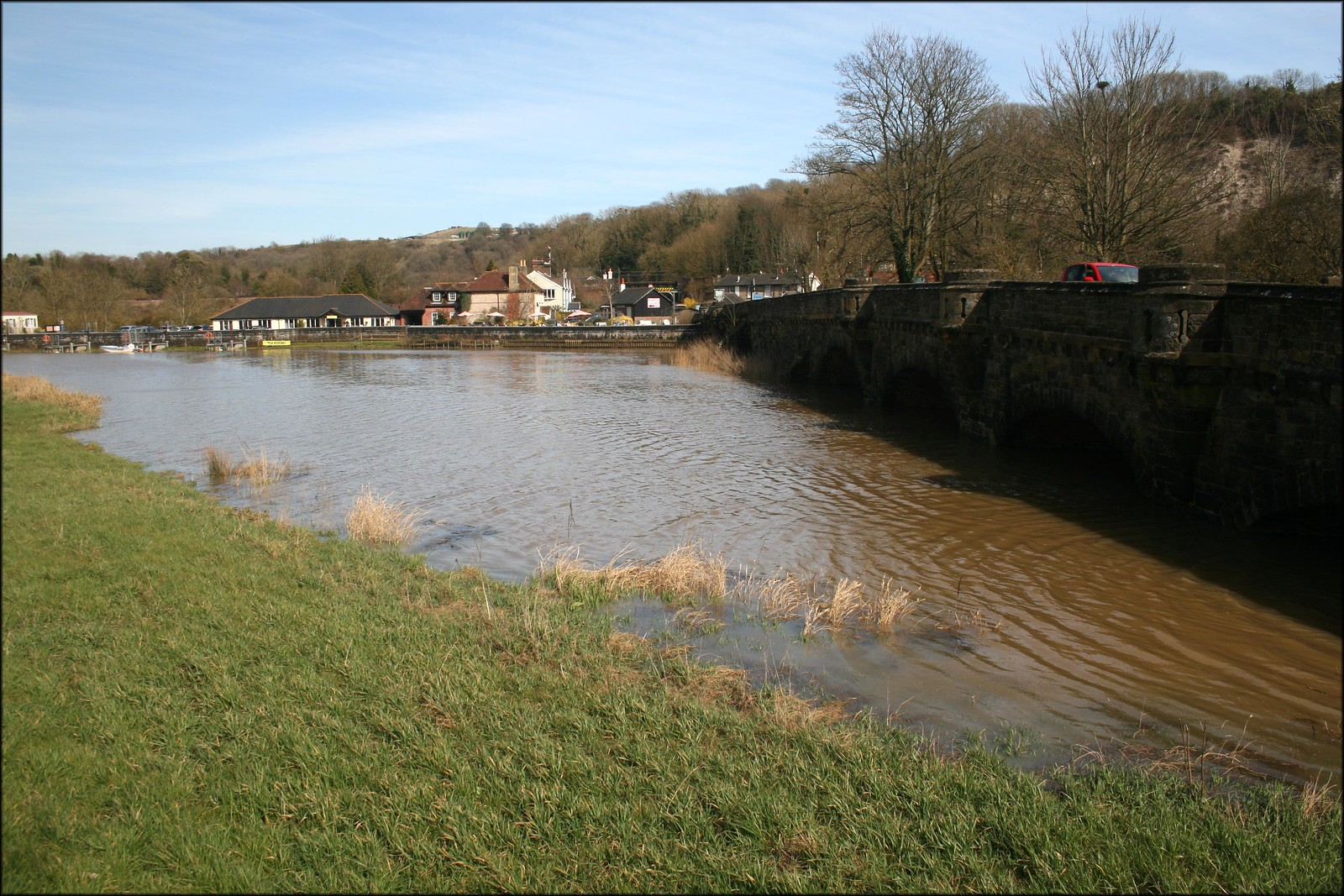 The River Arun at Amberley Station
