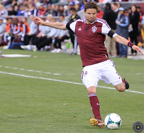 Drew Moor, Colorado Rapids v. Seattle Sounders FC Apr. 20, 2013 by Corbin Elliott Photography