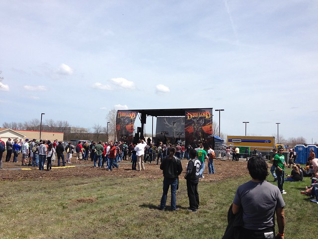 The stage at Dark Lord Day -