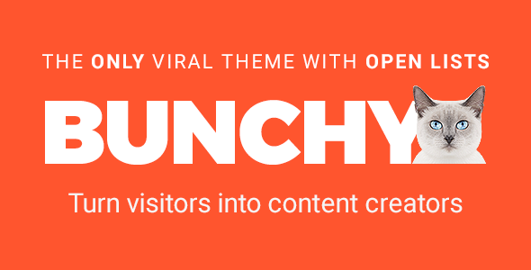Bunchy v1.3 - Viral WordPress Theme with Open Lists