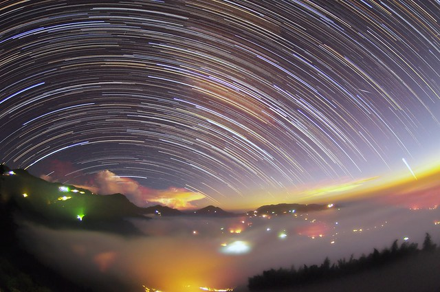 Startrails at Mountain Dalun 大崙山