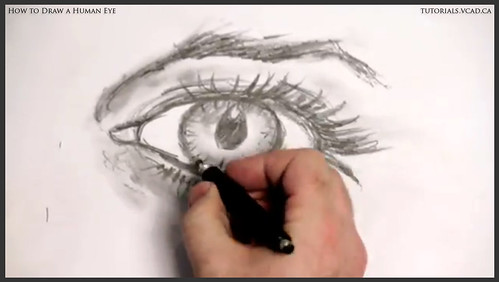 learn how to draw a human eye 025