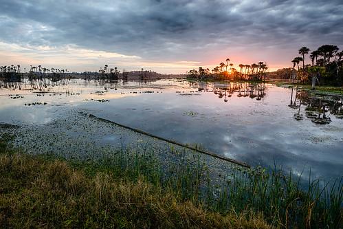 usa lake water sunrise landscape dawn orlando day florida cloudy hdr centralflorida orlandowetlandspark