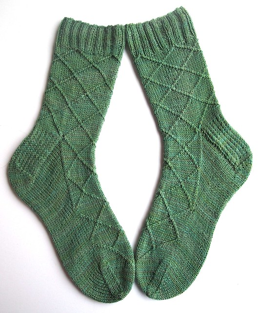 Business Casual socks-Wandering Cat Yarns Alley Cat BFL-Fern Gully