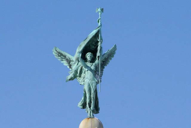 Victory Atop The WWI Memorial at Edgemont Park Montclair NJ