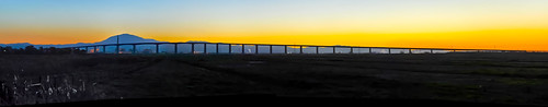 california blue sunset panorama black color reflection water northerncalifornia yellow nikon industrial profile large delta panoramic bayarea february mtdiablo stitched sacramentocounty contracostacounty shermanisland 2013 antiochbridge d700