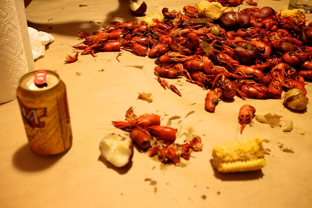 getting at the crawfish, new orleans