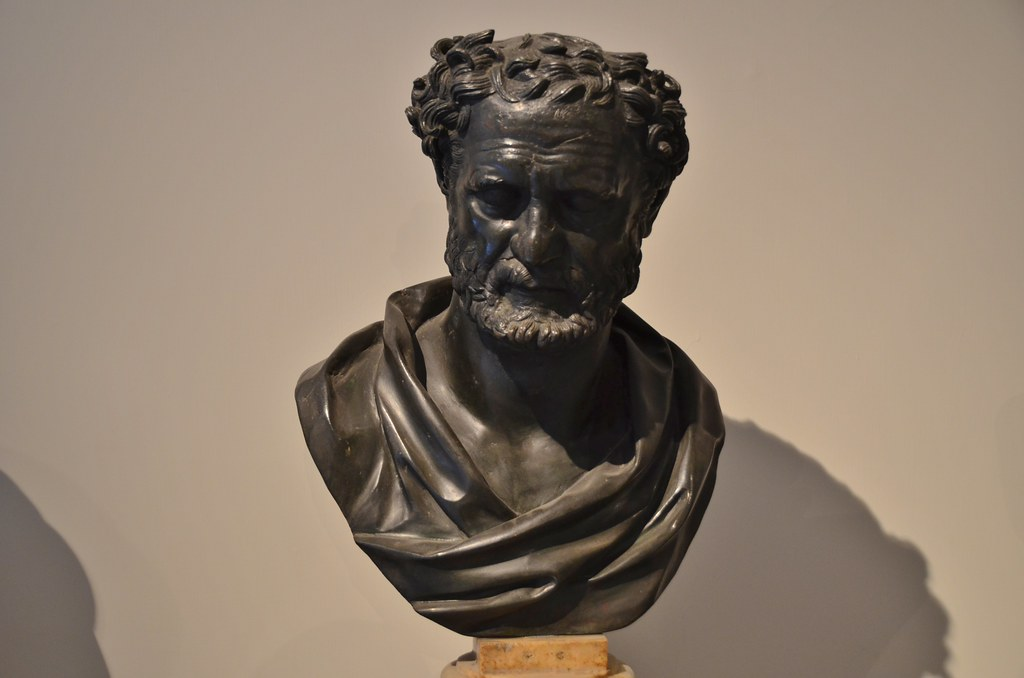 Heraclitus,  from the Villa of the Papyri at Herculaneum, Naples Archeological Museum