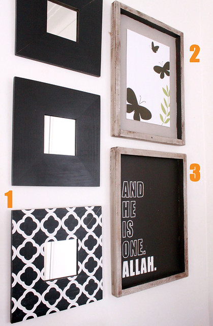 Wall Decor Around Mirror : In my studio diy wall art for living room nook