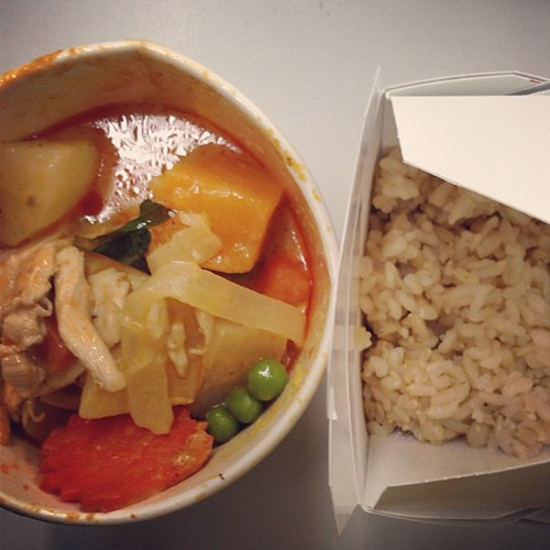 Leftover pumpkin curry from Asii in Montrose. #BestThaiAround