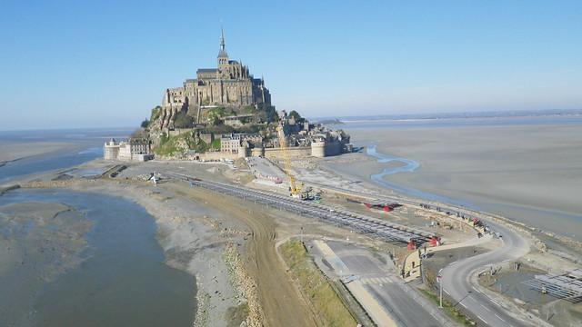Mont st michel et travaux flickr photo sharing - Travaux mont saint michel ...