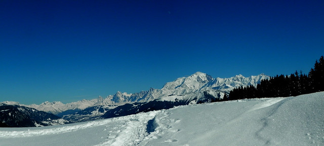 Mont Blanc vu de Belieuvre